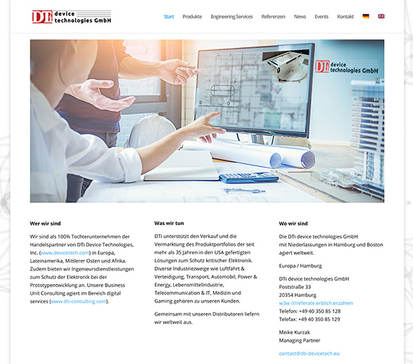 DTi device technologies GmbH Website