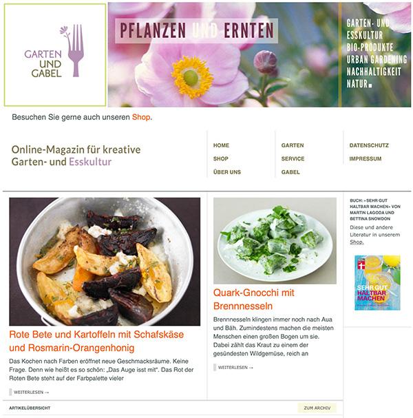 Garten und Gabel Website