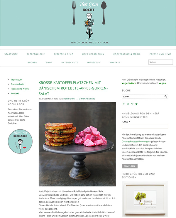 Herr Grün kocht Website